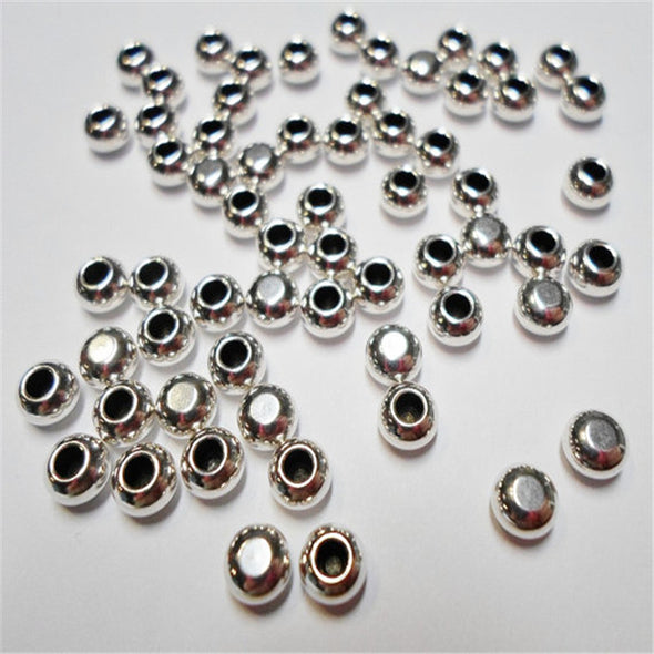100 Pcs for 3mm round leather Antique Silver Jewelry terminal  jewelry supplies jewelry finding D-5-3-8