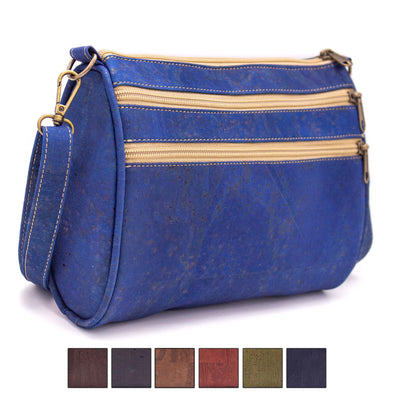 Colored cork crossbody bag BAGP-028