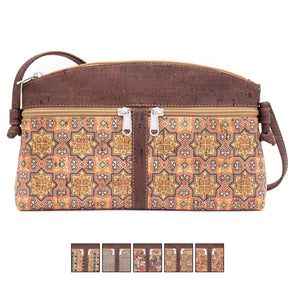 Brown cork cross-body women's Bag BAGP-007