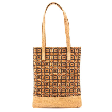 Ethnic orange and brown designs Eco Tote Bag BAG-406-D