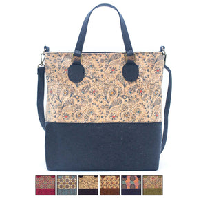Pattern cork women's handbag with strap BAGP-010