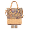 Natural cork women's handbag with pattern BAG-629