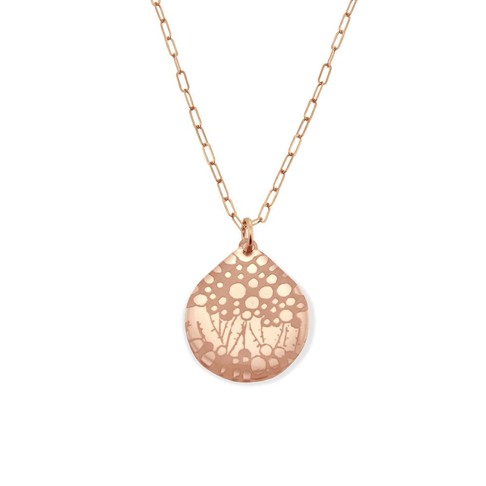 Seagrass Necklace in Rose Gold