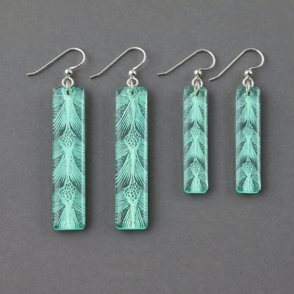 Sea Turtle Earrings - Small & Large Bar