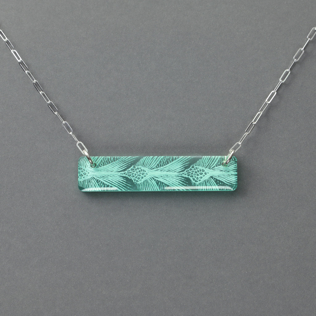 Sea Turtle Necklace - Small & Large Bar