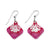 Flower Mollusk Shell Earrings - Diamond
