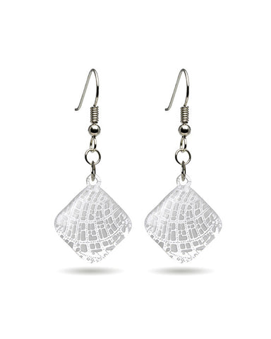 Map (Brachyura - Sea Crustacean) Microcosm Earrings