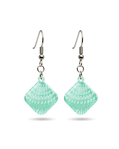 Mollusk Seashell Earrings - Diamond