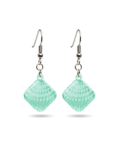 Shell (Mollusca) Microcosm Clear Earrings