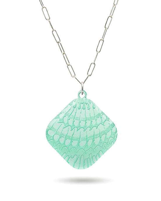 Shell Microcosm Clear Necklace