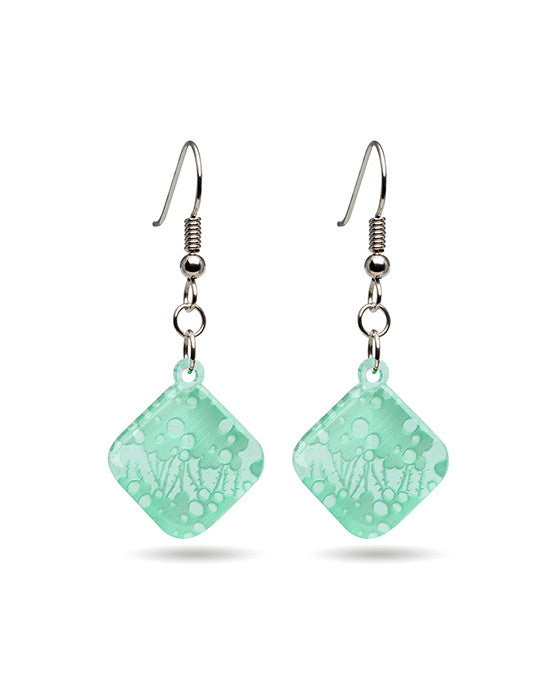 Seagrass Earrings - Diamond