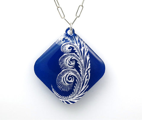 Rose of Jericho (Anastatica )Necklace - Blue