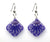 Starfish Earrings, diamond shape, purple from Lab Partners Jewelry