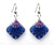 Starfish Earrings, diamond shape, red white and blue from Lab Partners Jewelry