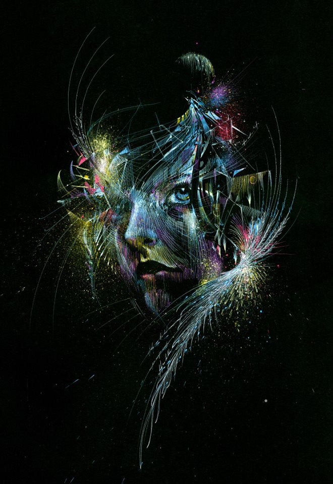 """FLY ME TO THE MOON"" CARNE GRIFFITHS"