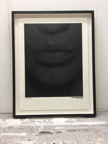 """Just A Kiss (Metallic Black)"" Original Print By Steve Smythe"