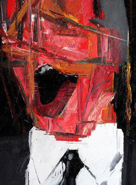"""Head 3 (2nd series)"" Original Painting By Carp Matthew"