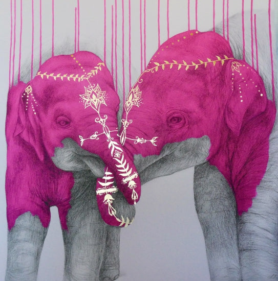 """Soul Mates - Pink"" By Louise McNaught"