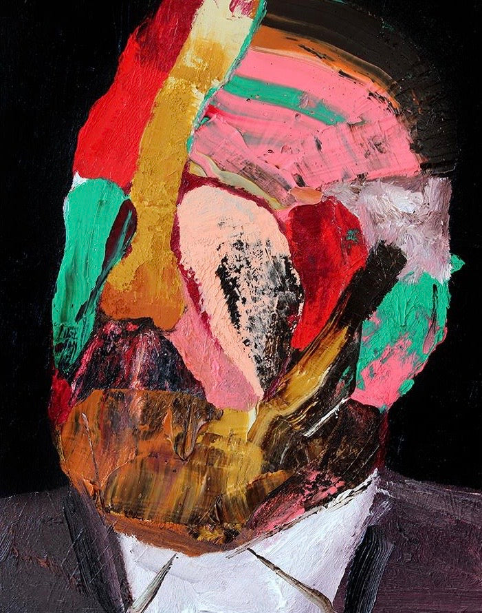 """Head 14 (2nd series)"" Original Painting By Carp Matthew"