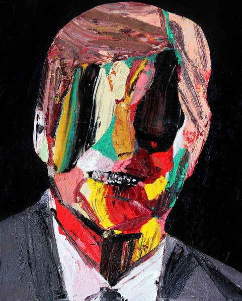 """Head 15 (2nd series)"" Original Painting BY Carp Matthew"