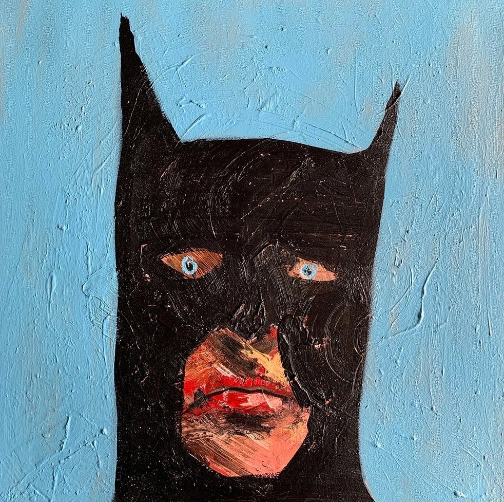 """Batman: Bit of a prick"" Original Painting By Lee Ellis"