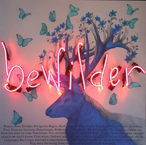 """BE WILDER"" REBECCA MASON & LOUISE MCNAUGHT ORIGINAL NEON WORK COLLABORATION"
