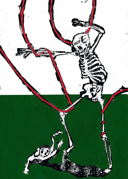 """Dance around in your bones 01"" Original Print By Lee Ellis"