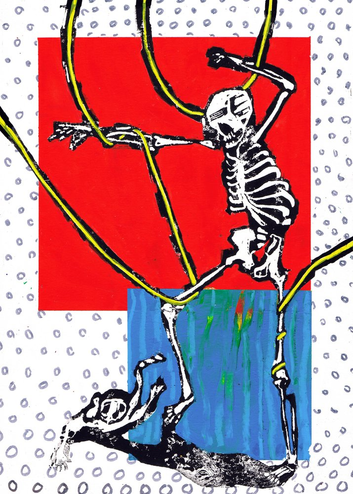 """Dance around in your bones 07"" Original Print By Lee Ellis"