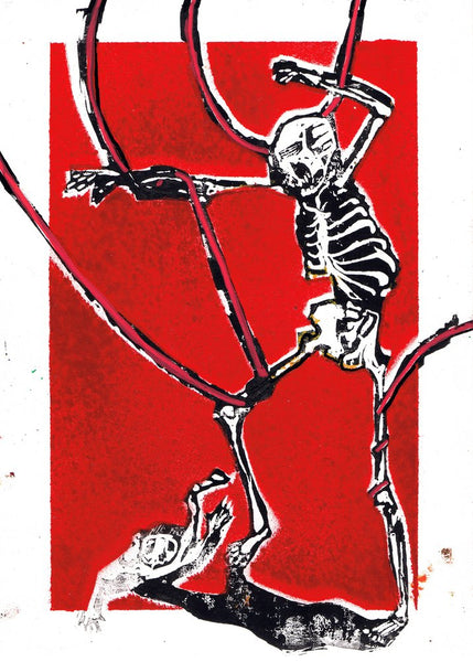 """Dance around in your bones 09"" Original Print By Lee Ellis"