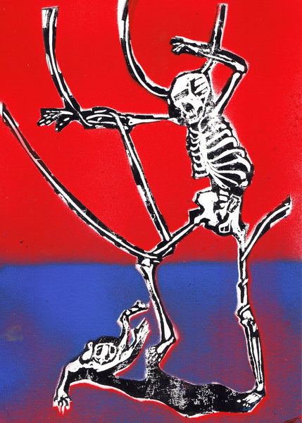 """Dance around in your bones 10"" Original Print By Lee Ellis"