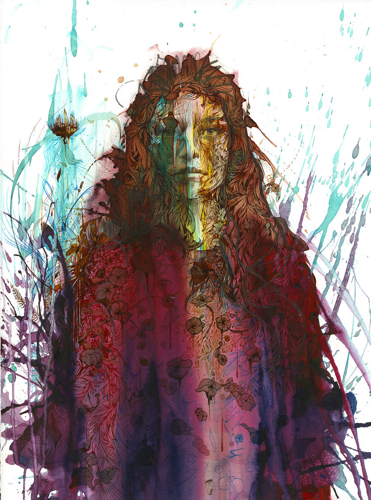 """FALLING FLOWERS"" CARNE GRIFFITHS"