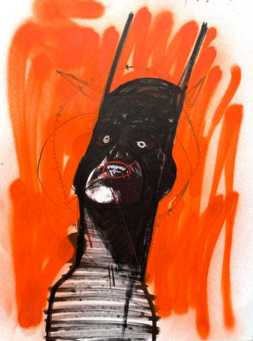 """Franks hot sauce made me do it 2"" Original work on paper By Lee Ellis"