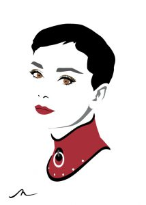 """Miss Hepburn"" Limited Edition By Michelle Mildenhall"