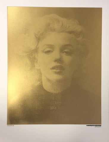 Untitled Monroe (Metallic Gold) Original Print By Steve Smythe