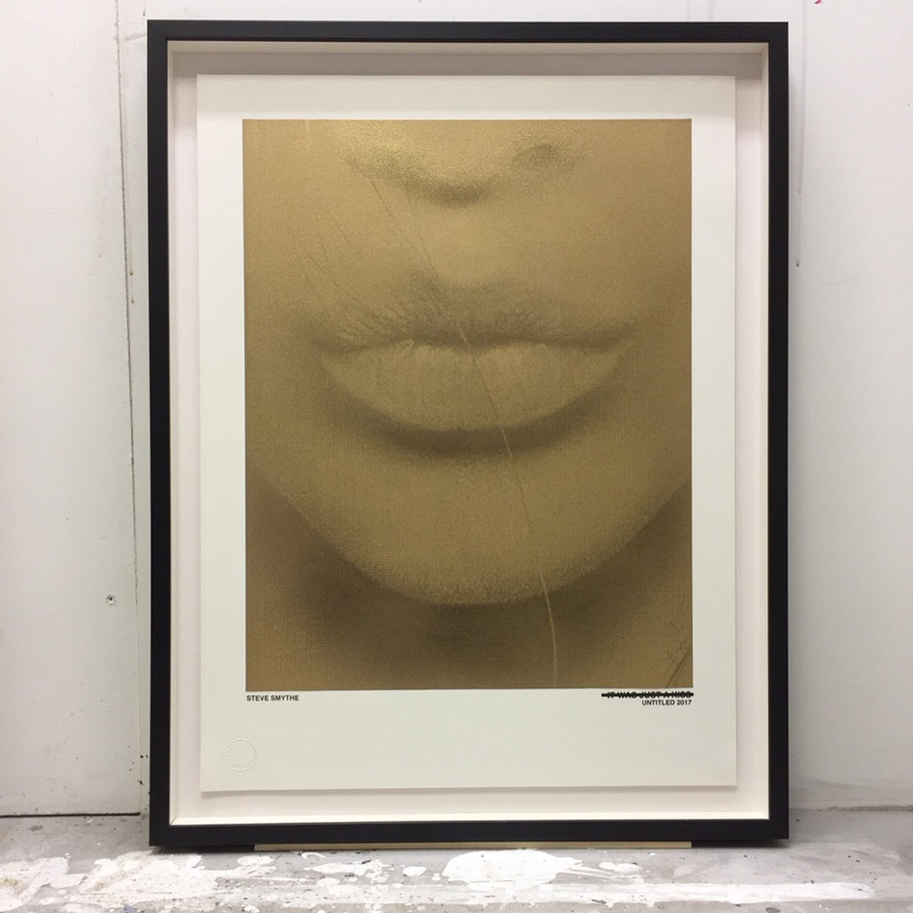 Just A Kiss (Metallic Gold) Original Print By Steve Smythe