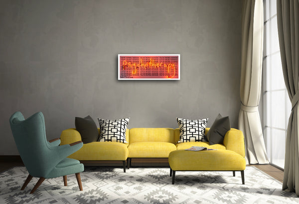 """The Neon Health Service Dept of Light Therapy II - red"" Limited Edition By Rebecca Mason"