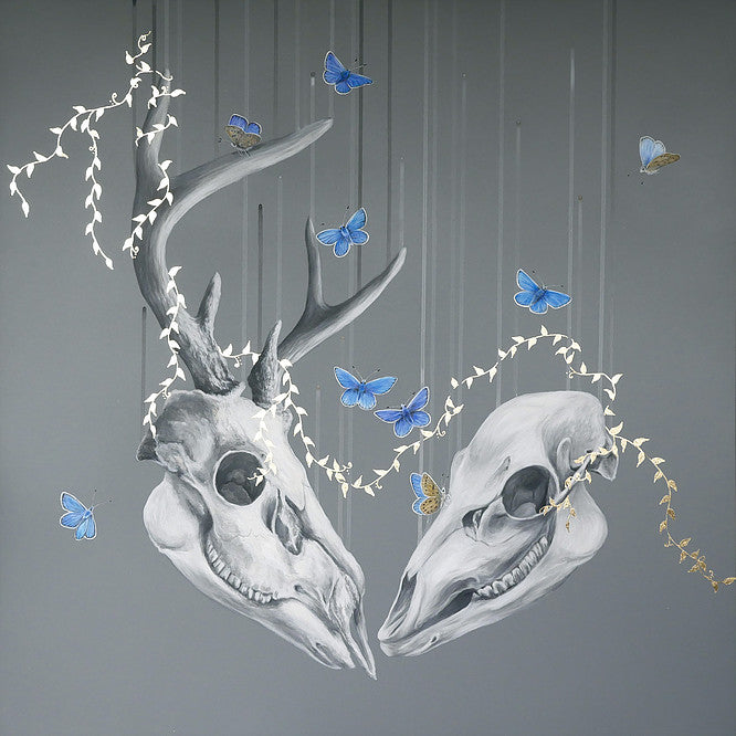 "LOUISE MCNAUGHT"" We Will Meet Again (Capreolus Capreolus)"" GOLD LEAF"