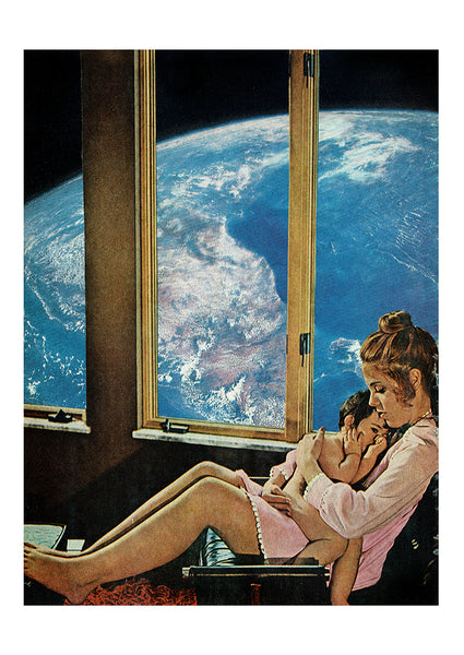 Mother Earth Original Collage by Steven Quinn