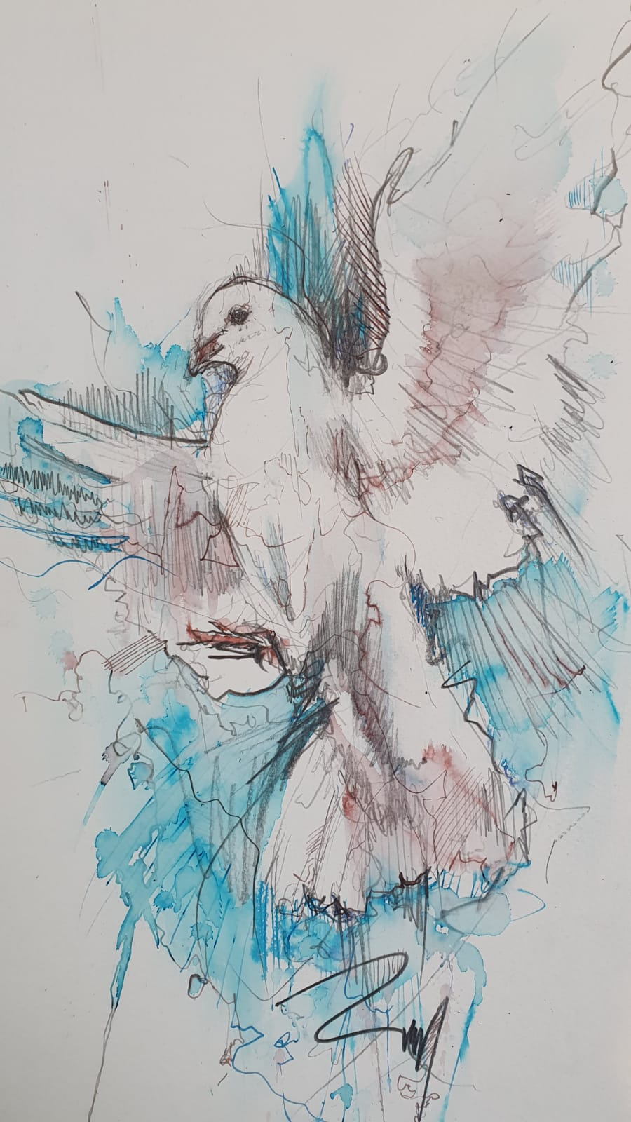 "Carne Griffiths ""The Dove"" Original Work On Paper"