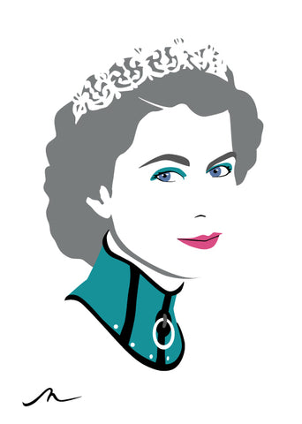 """QE2 (turquoise)"" Limited Edition By Michelle Mildenhall"