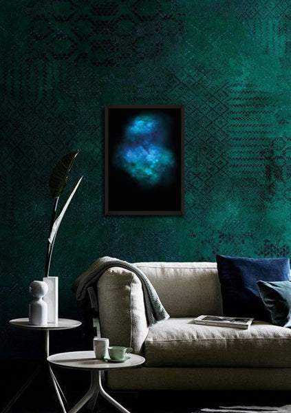 GALAXY EXPLOSION (DIAMOND DUST - TURQUOISE) Limited Edition By Lauren Baker