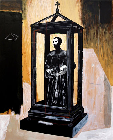 """Saint In A Display Case"" Original Work By Carp Matthew"