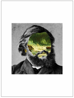 'Portrait 32: Courbet'  Digital Collage by Roberto Voorbij