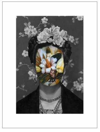 """Portrait 39: Kahlo""  Digital Collage by Roberto Voorbij"