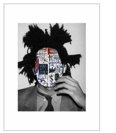 """Portrait 41: Basquiat"" Digital Collage by Roberto Voorbij"