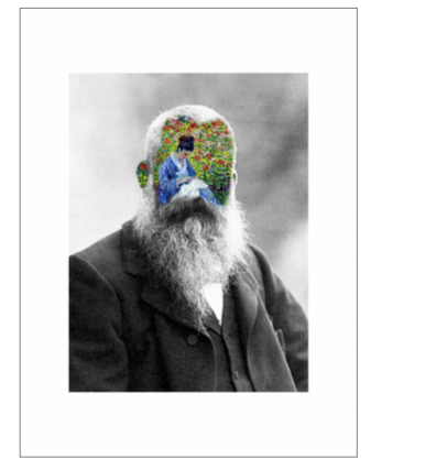 'Portrait 28: Monet'  Digital Collage by Roberto Voorbij