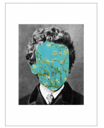 'Portrait 29: Van Gogh'  Digital Collage by Roberto Voorbij