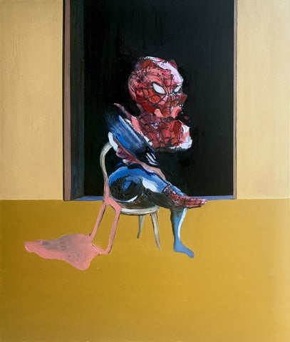 """There's a Spider on my Bacon"" Original Painting By Lee Ellis"