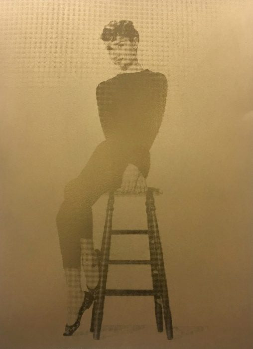 UNTITLED AUDREY HEPBURN (GOLD) ORIGINAL WORK BY STEVE SMYTHE