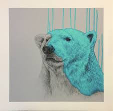 """Hey There Polar Bear - Aqua"" Louise McNaught"